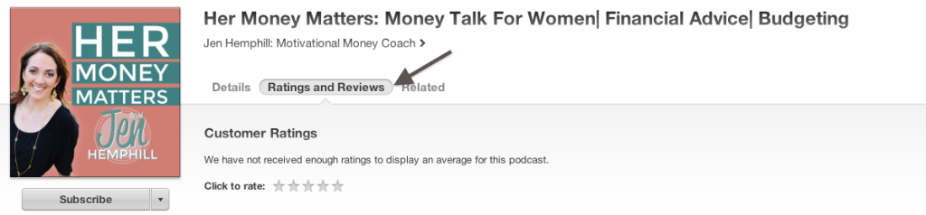 Rate and review in itunes snapshot