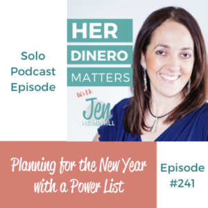 HDM 241: Planning for the New Year with a Power List